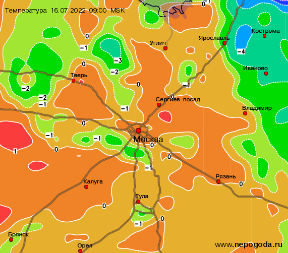 Погода в октябре курская область